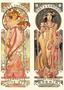 Postcard Tushita Fine Arts | Alphonse Mucha - Moët & Chandon White Star