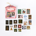 Vintage Sticker Flakes Sack | Christmas Stanps_