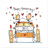 Juicy Lucy Designs Greeting Card - Happy Anniversary!_