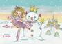 Princess Lillifee Postcard With Glitter | Snowman_