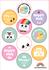 A5 Round Stickersheet | Happy Mail_