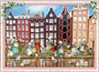 Postcard Edition Tausendschoen | Holland - Amsterdam Houses_