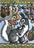 Postcard | Russian Woodcut Squirrels_