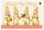 Postcard Edition Tausendschoen | Happy Birthday Bunnies_