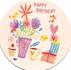 Round Postcard Edition Tausendschoen | Happy Birthday_