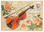 Postcard Edition Tausendschoen | Geige_