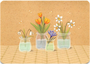 Postcard Gutrath Verlag | Flowers in a pot_