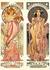 Postcard Tushita Fine Arts | Alphonse Mucha - Moët & Chandon White Star_