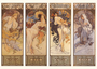 Postcard Tushita Fine Arts | Alphonse Mucha - The Seasons_